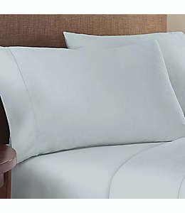 Fundas para almohada estándar/queen de algodón satinado Therapedic® Solotex color azul hielo