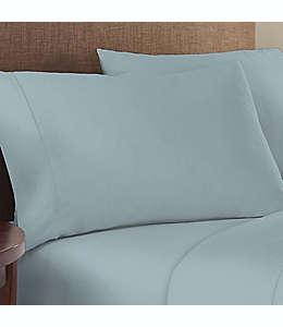 Fundas para almohada estándar de algodón satinado Therapedic® Performance color aqua