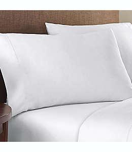 Fundas para almohada estándar de algodón satinado Therapedic® Performance de lunares color blanco