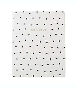 Diario personal Eccolo™ con diseño punteado color blanco