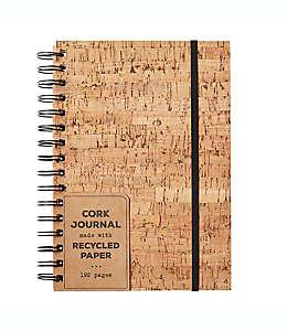 Diario personal Eccolo™ con cubierta de corcho color beige