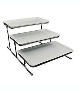 Organizador triple con charolas Our Table™ Hayden color blanco