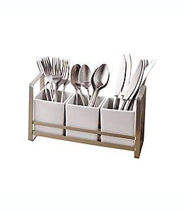 Organizador de cubiertos Our Table™ Hayden color blanco, 4 pzas.