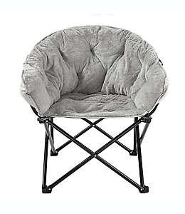Silla plegable Simply Essential™ de estilo lounge color gris claro