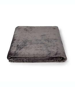Frazada de poliéster Simply Essential™ Plush Solid color gris oscuro