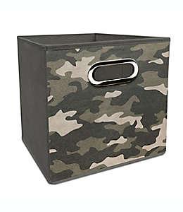 Contenedor plegable de poliéster Simply Essential™ de 27.94 cm con estampado de camuflaje color gris