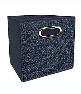 Contenedor plegable de poliéster Simply Essential™ de 27.94 cm color azul mezclilla