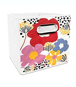 Contenedor plegable de poliéster Simply Essential™ de 27.94 cm con flores multicolor