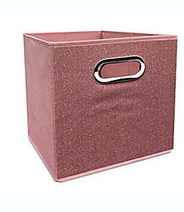 Contenedor plegable de poliéster Simply Essential™ de 27.94 cm color rosa