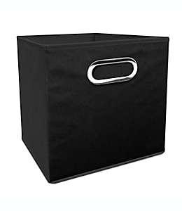 Contenedor plegable de poliéster Simply Essential™ de 27.94 cm color negro