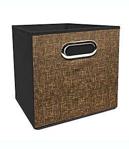 Contenedor plegable de poliéster Simply Essential™ de 27.94 cm color café