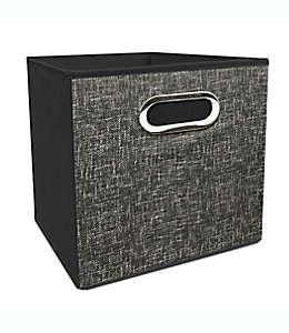 Contenedor plegable de poliéster Simply Essential™ de 27.94 cm color gris carbón