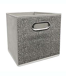 Contenedor plegable de poliéster Simply Essential™ de 27.94 cm color gris