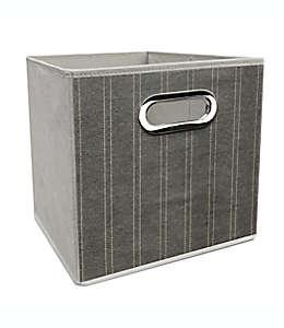 Contenedor plegable de poliéster Simply Essential™ de 27.94 cm color blanco/gris