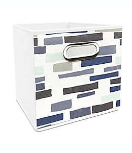 Contenedor plegable de poliéster Simply Essential™ de 27.94 cm con ladrillos color azul