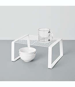 Organizador mediano para alacena Simply Essential™ de acero color blanco brillante