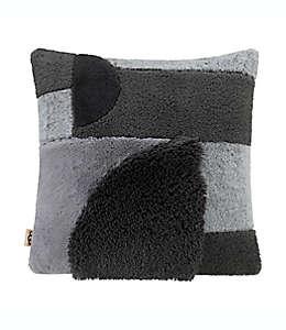 Cojín decorativo cuadrado de poliéster UGG® Crescent color gris carbón