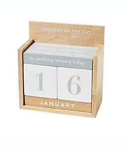 Calendario de escritorio de MDF Eccolo™ color beige