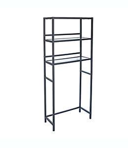 Mueble ahorrador de espacio para baño Studio 3B™ Mercer de metal color negro