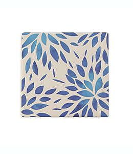 Portavasos cuadrados de dolomita Thirstystone® con diseño de hojas, Set de 4