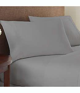 Set de sábanas queen de algodón y poliéster Studio 3B™ de 825 hilos color gris