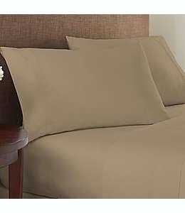 Set de sábanas queen de algodón y poliéster Studio 3B™ de 825 hilos color café