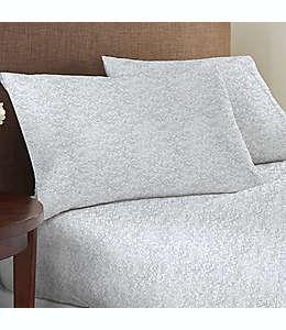 Set de sábanas queen de algodón Studio 3B™ de 825 hilos con estampado color gris