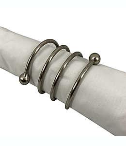 Anillo metálico en espiral para servilleta Studio 3B™ color plata