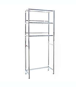 Mueble ahorrador de espacio para baño Studio 3B™ Mercer de metal cromado