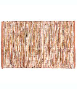 Mantel individual de algodón con diseño otoñal color naranja