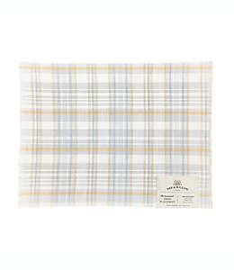 Manteles individuales de lino Bee & Willow™ con diseño a cuadros multicolor, Set de 4