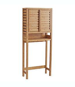 Mueble ahorrador de espacio de bambú para baño Haven™ color natural