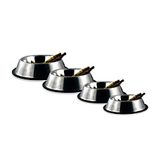image of Bergan® Stainless Steel Non-Skid/Non-Tip Ridged Pet Bowls