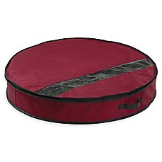 image of Neu Home 32-Inch Holiday Wreath Storage Bag in Red