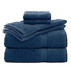 Utica Essentials 6 Piece Bath Towel Set In Blue