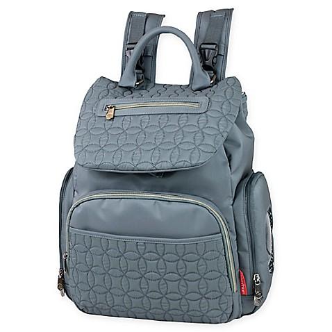 Fisher Price 174 Hayden Quilted Backpack Diaper Bag In Grey