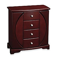 image of Mele & Co. Oval Cut-Out Upright Jewelry Box - Simone - Mahogany