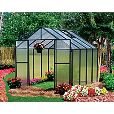 image of Riverstone Monticello 8-Foot x 8-Foot Residential Greenhouse in Black