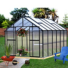 image of Riverstone Monticello 8-Foot x 12-Foot Residential Greenhouse in Black