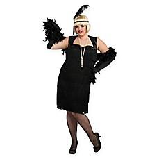 Flapper X-Large Adult Halloween Costume in Black  sc 1 st  Bed Bath u0026 Beyond & flapper | Bed Bath u0026 Beyond