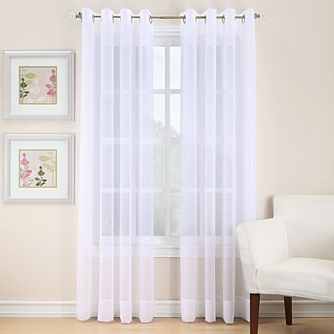 Buy Voile 108 Inch Sheer Grommet Window Curtain Panel In