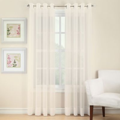 image of Voile Sheer Grommet Window Curtain Panel