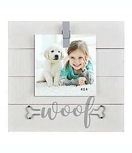 """""""Woof"""" Portarretratos con clip para fotografía de 10.16 x 15.24 cm"""