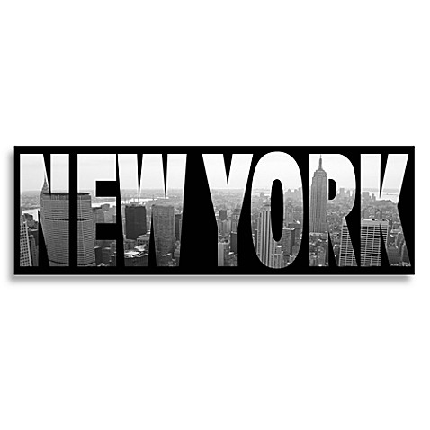 new york black and white wall art - bed bath & beyond