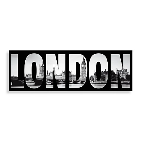 Attirant London Wall Art In Black