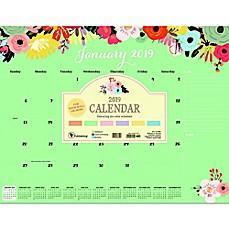Floral 2019 Daily Desktop Calendar