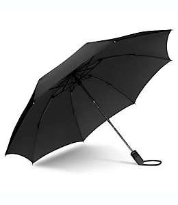 Paraguas invertido de bolsillo de poliéster UnbelievaBrella™ color negro