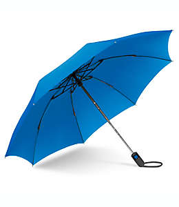 Paraguas invertido de bolsillo de poliéster UnbelievaBrella™ color azul