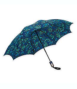 Paraguas invertido de bolsillo UnbelievaBrella™ ShedRain® en estampado de Monet
