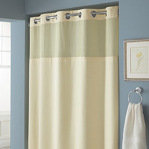 Buy Hookless Waffle 71 Inch X 86 Inch Long Fabric Shower Curtain In Yellow F